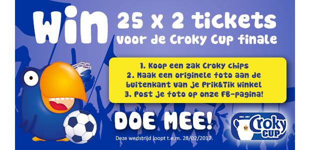 WIN 25 x 2 tickets voor de croky cup finale