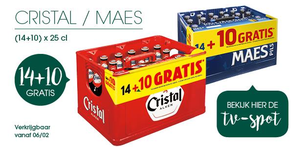 14x10 GRATIS bij Cristal en Maes
